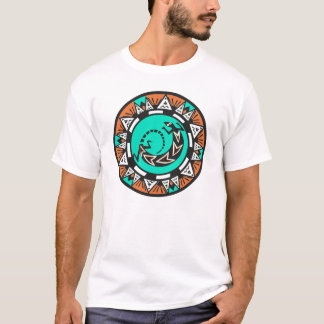 NATIVE AMERICAN  CIRCLE LIZARD DESIGN T-Shirt