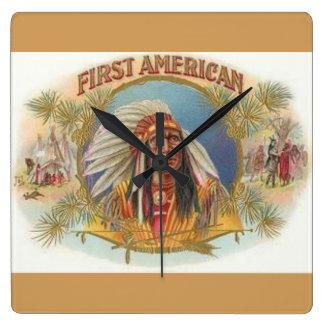 NATIVE AMERICAN CLOCK