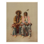 Native American Couple, 1899 Poster