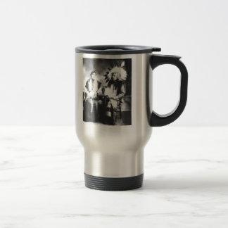 Native American Couple Stainless Steel Travel Mug