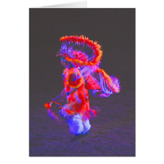 Native American Dance - red - notecards Note Card