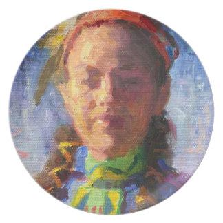 Native American Dancer Melamine Plate