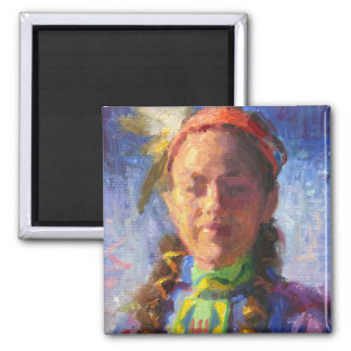 Native American Dancer Refrigerator Magnet