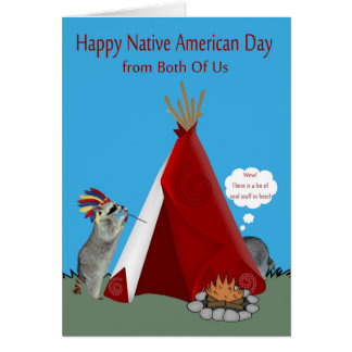 Native American Day From Both Of Us Greeting Card