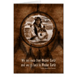 Native American Day Wolf and Dreamcatcher Card