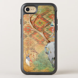 Native American Deer Skull amulet map feathers OtterBox Symmetry iPhone 7 Case