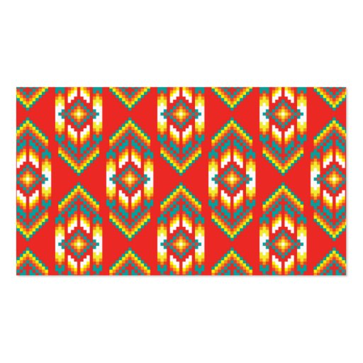 Native American Design Fire Business Cards