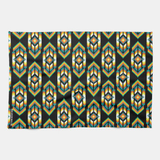 Native American Design Midnight.png Tea Towel