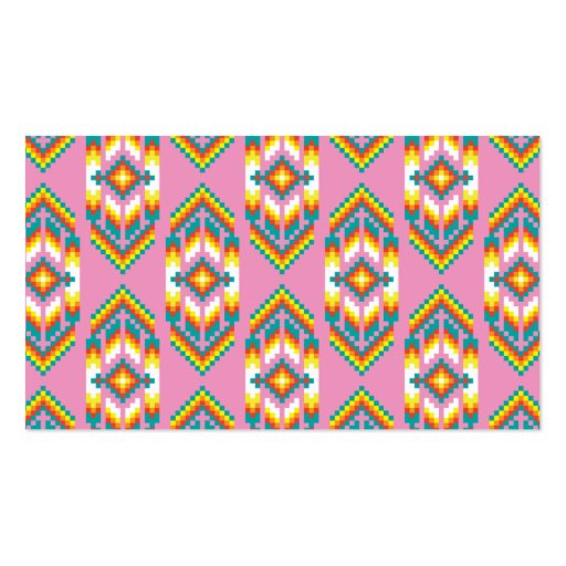 Native American Design Pink Business Card Template