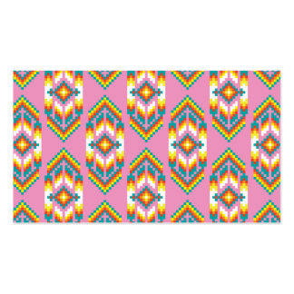 Native American Design Pink Pack Of Standard Business Cards