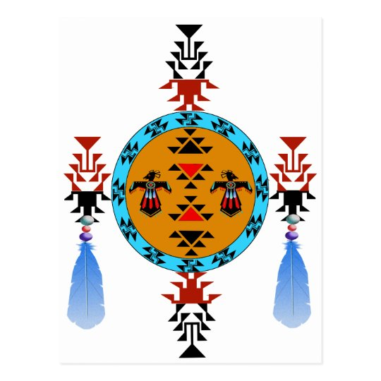 Native American design Postcard