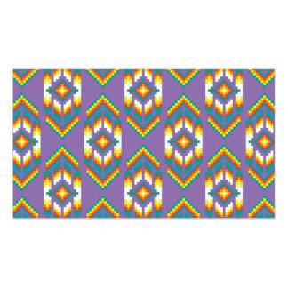 Native American Design Purple Double-Sided Standard Business Cards (Pack Of 100)