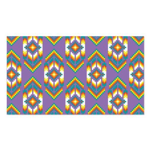 Native American Design Purple Business Card