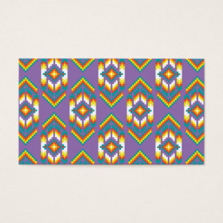 Native American Design Purple Business Card