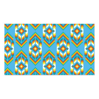 Native American Design Sky Blue Double-Sided Standard Business Cards (Pack Of 100)