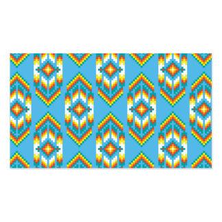 Native American Design Sky Blue Pack Of Standard Business Cards