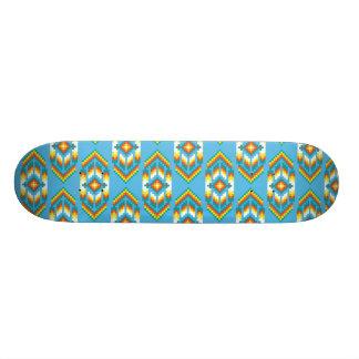 Native American Design Sky Blue 21.6 Cm Old School Skateboard Deck