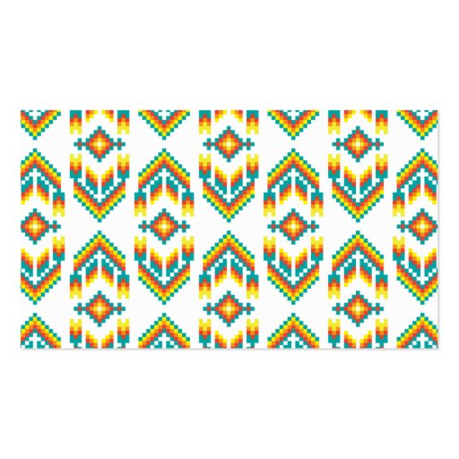 Native American Design White.png Business Card Templates