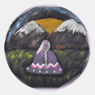 Native American Designs Classic Round Sticker