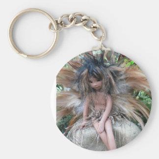 Native American Faery Basic Round Button Key Ring