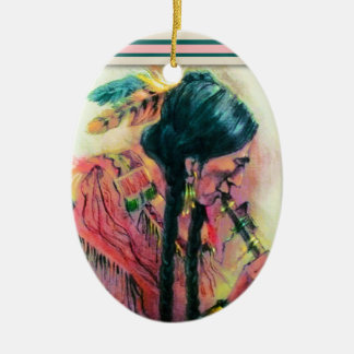 Native American Flute Player Christmas Ornament