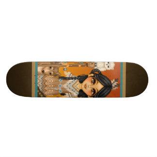 Native American Girl 18.1 Cm Old School Skateboard Deck