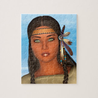 Native American Girl Jigsaw Puzzles