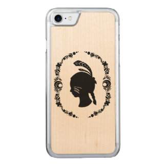 Native American Girl Silhouette Carved iPhone 7 Case