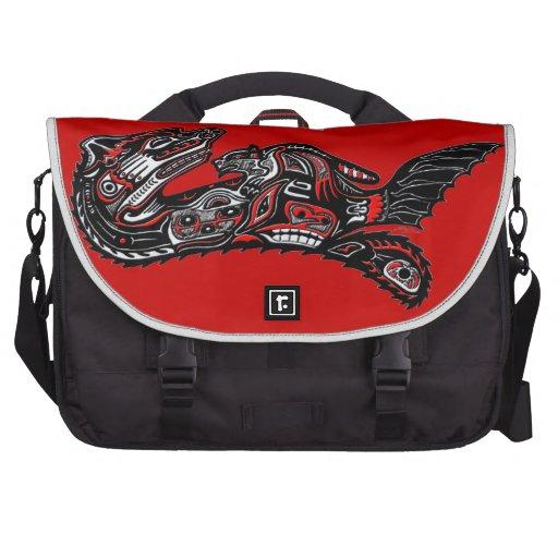 Native American Haida Art Otter Illustration Laptop Commuter Bag