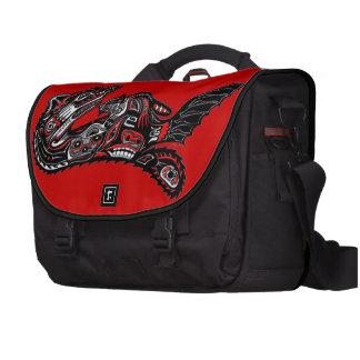 Native American Haida Art Otter Illustration Laptop Shoulder Bag
