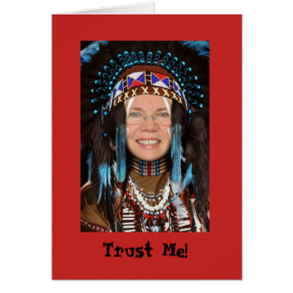 Native American Headdress Greeting Card