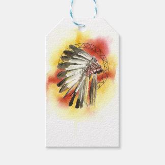 Native American Headresss Gift Tags