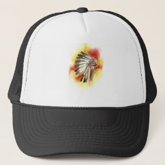 Native American Headresss Trucker Hat