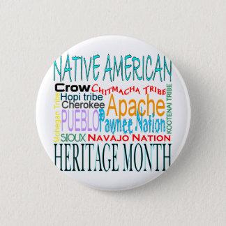 Native American Heritage Month 6 Cm Round Badge