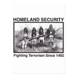 Native American Homeland Security Gifts Postcard