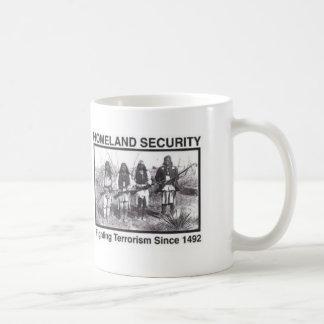 Native American Homeland Security T-shirts Basic White Mug