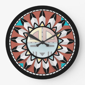 Native American Hopi Abstract Clock Design