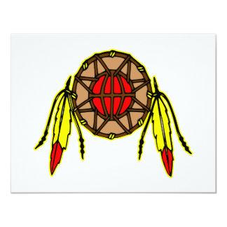 Native American Indian 11 Cm X 14 Cm Invitation Card