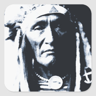 Native American Indian Apsaroke Square Sticker