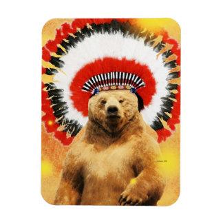 Native American Indian Bear! Rectangular Photo Magnet