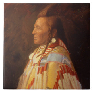 Native American Indian Chief Ceramic Tile