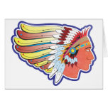 Native American Indian Chief Greeting Card