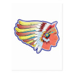 Native American Indian Chief Post Card