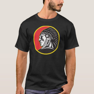 Native American Indian Chief Side T-Shirt