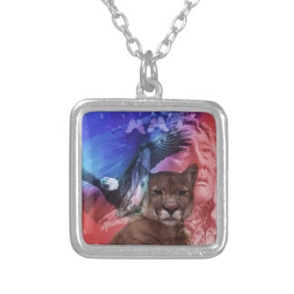 Native American Indian Chief Square Pendant Necklace