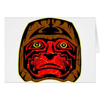 Native American Indian Dance Mask Card