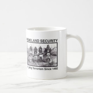 Native American Indian Homeland Security Coffee Mugs