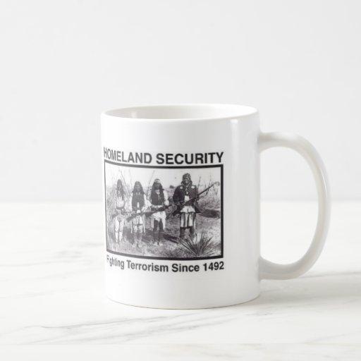 Native American Indian Homeland Security Coffee Mugs