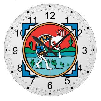 Native American Indian Kokopelli Large Clock
