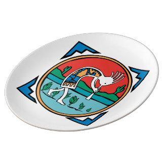 Native American Indian Kokopelli Plate